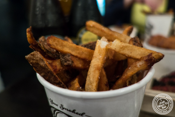 French fries at Mighty Quinn's BBQ in NYC, New York
