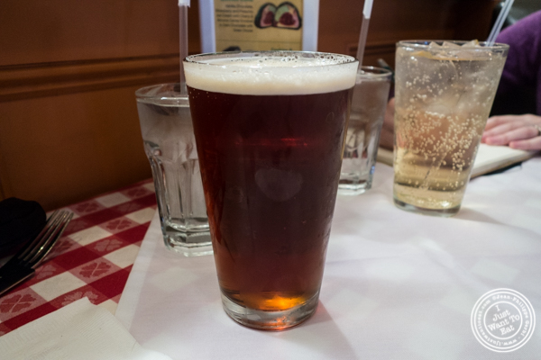 Grimaldi's IPA beer at Grimaldi's Pizza in Hoboken, NJ