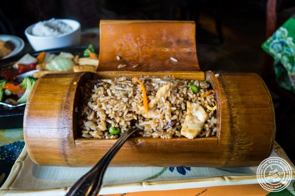 Nasi goreng at Satay Malaysian Cuisine in Hoboken, NJ
