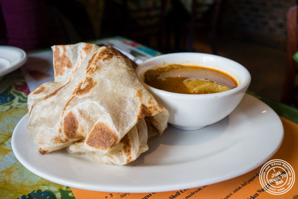 Roti Canai at Satay Malaysian Cuisine in Hoboken, NJ