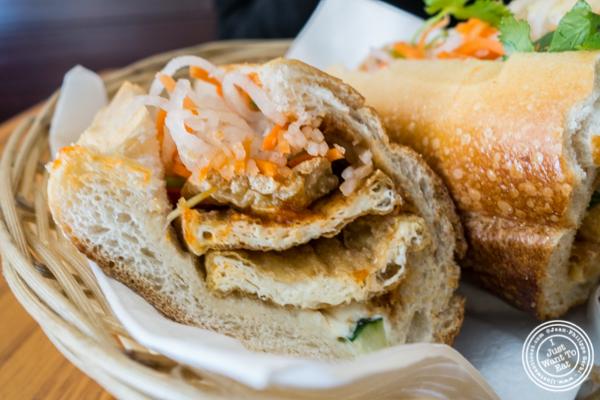 Tofu Banh Mi at Pho Nomenon in Hoboken, NJ