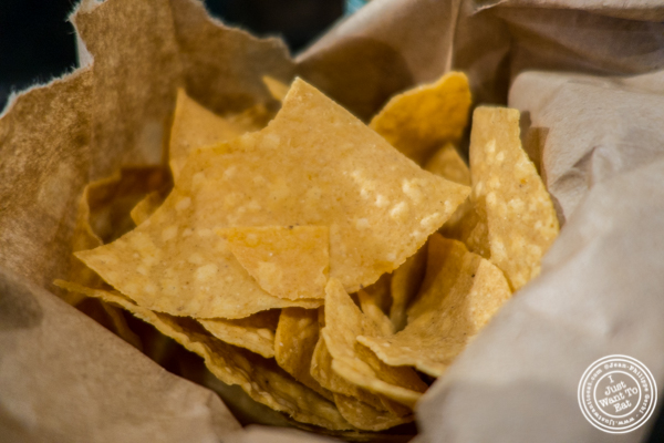 Chips at Choza Taqueria at The Gotham West Market in NYC, New York