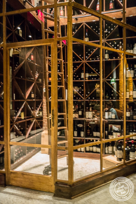 Wine cellar at White Street in Tribeca, NYC, New York