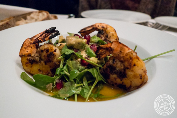 Tiger shrimp at White Street in Tribeca, NYC, New York