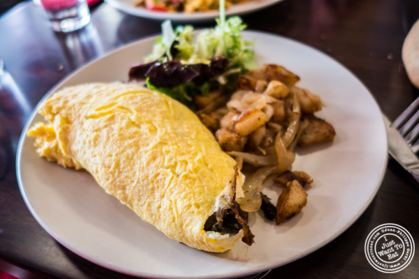 San Francisco omelet at Amelie Wine Bar in NYC, New York