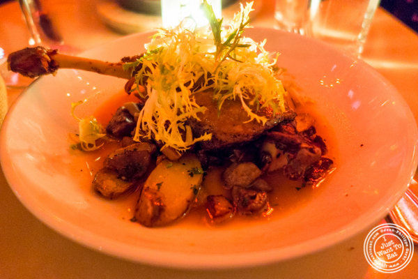 Duck confit at Amelie Wine Bar in NYC, New York