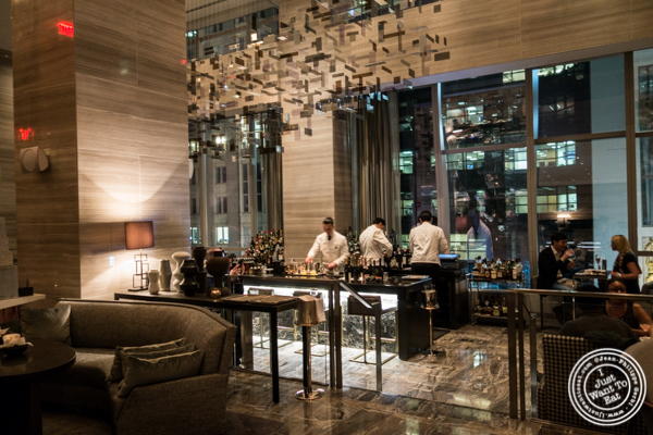 Bar area at The Back Room at One57, The Park Hyatt Hotel