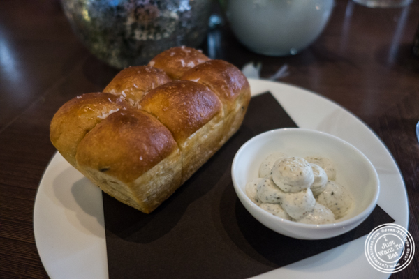 Onion bread at The Back Room at One57, The Park Hyatt Hotel
