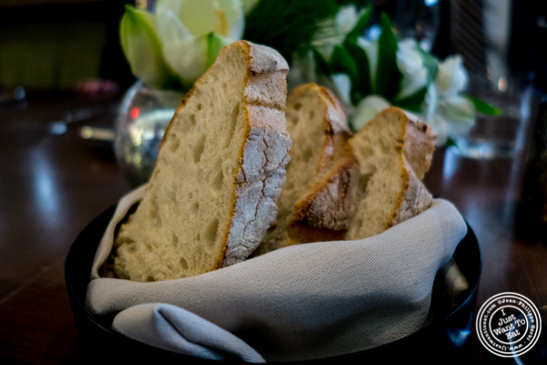 Sourdough bread at The Back Room at One57, The Park Hyatt Hotel