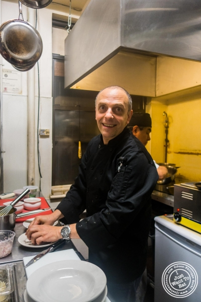 Chef Didier Pawlicki at Le Village in NYC, New York