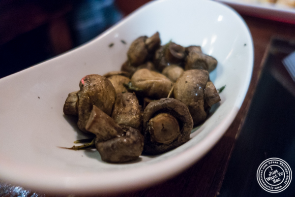 Mushrooms at Taureau, French restaurant in the West Village, NYC, New York