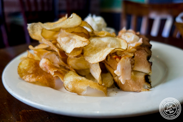 Homemade potato chips at Off The Hook, Raw Bar and Grill in Astoria, Queens
