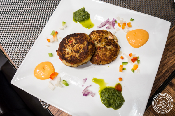 Crab cakes at at Surya, Indian restaurant on Bleecker, NYC, New York