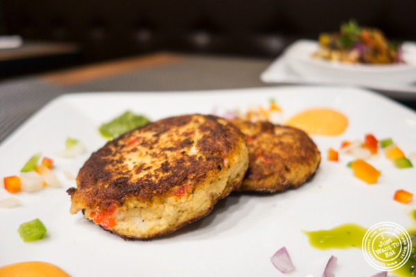 Crab cakes at Surya, Indian restaurant on Bleecker, NYC, New York
