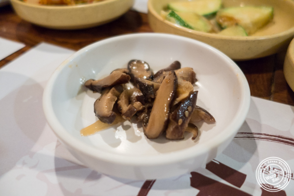 Mushrooms at Cho Dang Gol, Korean restaurant in NYC, New York