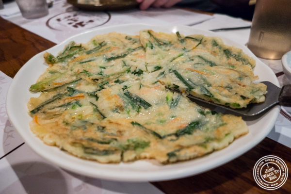 Buchu Jeon at Cho Dang Gol, Korean restaurant in NYC, New York