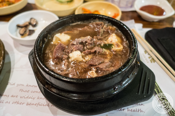 Bulgogi Jiggae at Cho Dang Gol, Korean restaurant in NYC, New York