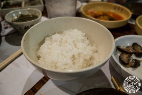 Rice for jiggae at Cho Dang Gol, Korean restaurant in NYC, New York