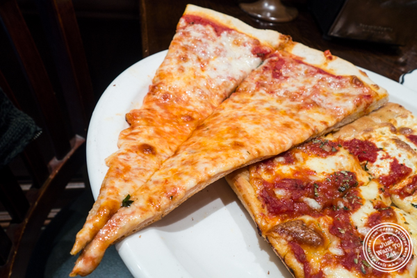 Plain slice at Gaudio's, Pizzeria and Restaurant in Astoria, Queens