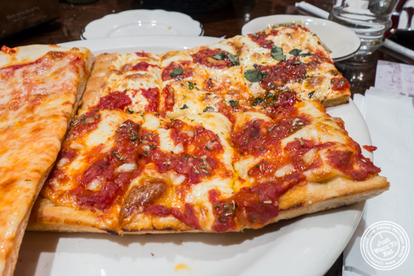 Grandma slice at Gaudio's, Pizzeria and Restaurant in Astoria, Queens