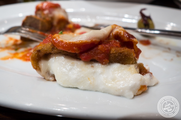 Eggplant rollatini at Gaudio's, Pizzeria and Restaurant in Astoria, Queens