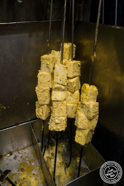 cottage cheese skewers at Bukhara in Delhi, India