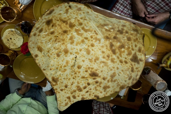 family naan at Bukhara in Delhi, India