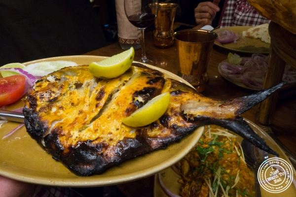 tandoor pomfret at Bukhara in Delhi, India