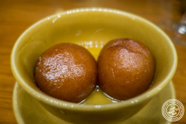 gulab jamun at Bukhara in Delhi, India