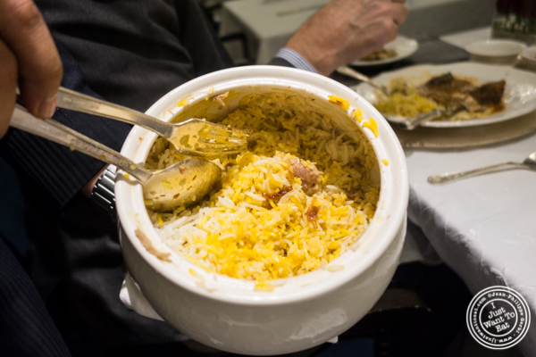 Biryani at Dum Pukht at The ITC Maurya Hotel in Delhi, India