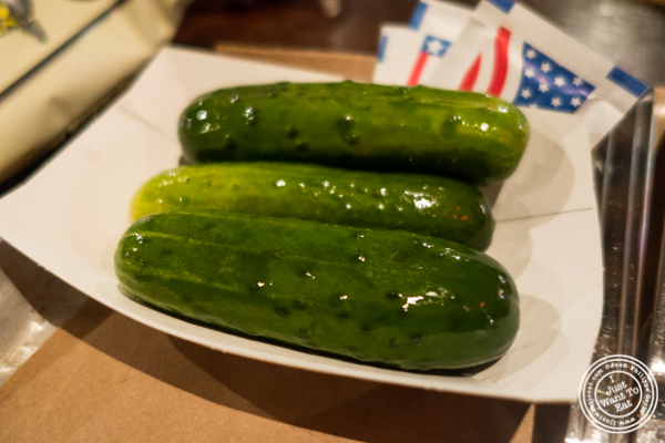 Pickles at Fette Sau, BBQ restaurant in Brooklyn