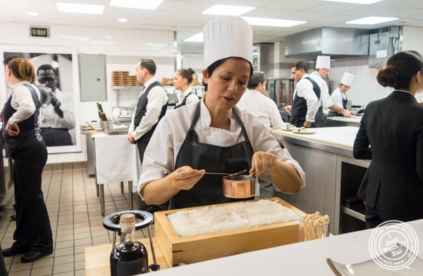 Executive pastry sous-chef Renata Ameni making taffy at Eleven Madison Park in NYC, New York