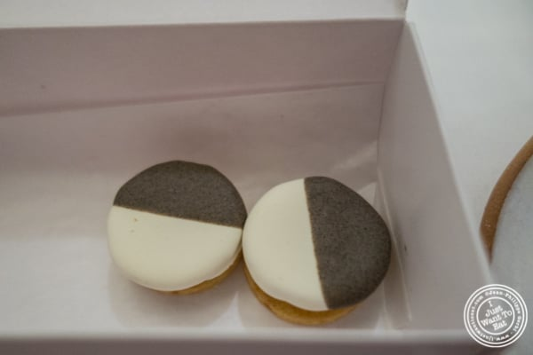 Savory black and white cookies at Eleven Madison Park in NYC, New York