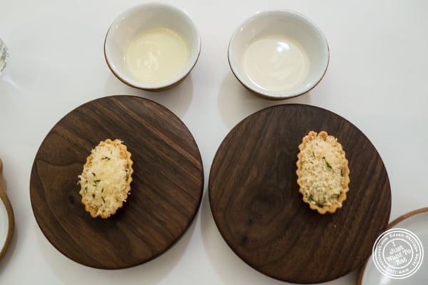 Pies and veloutes at Eleven Madison Park in NYC, New York