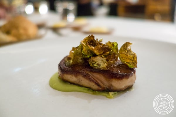 Seared foie gras at Eleven Madison Park in NYC, New York