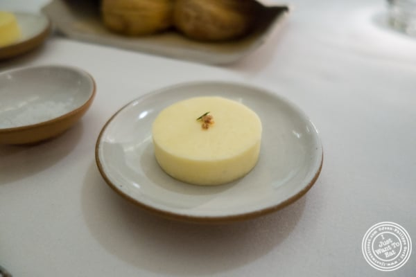 Butter made with duck fat at Eleven Madison Park in NYC, New York