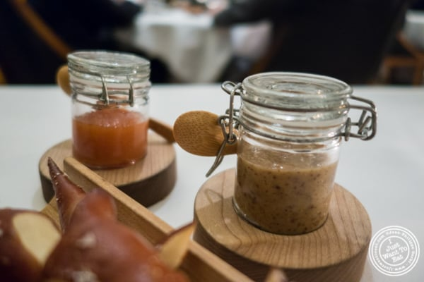 Mustard and quince jam at Eleven Madison Park in NYC, New York