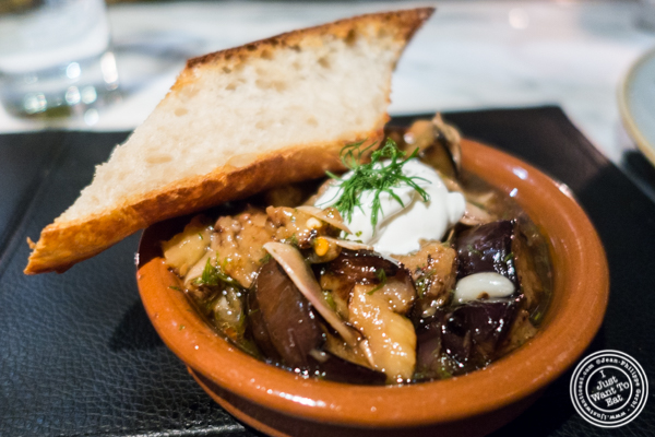 Eggplant Escabeche at Combina in TriBeCa, NYC, New York