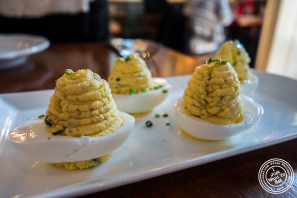 Deviled eggs at Bubby's High Line in NYC, New York