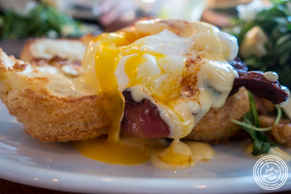Eggs benedict at Bubby's High Line in NYC, New York