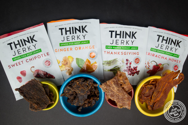 Tasting of Think Jerky flavors