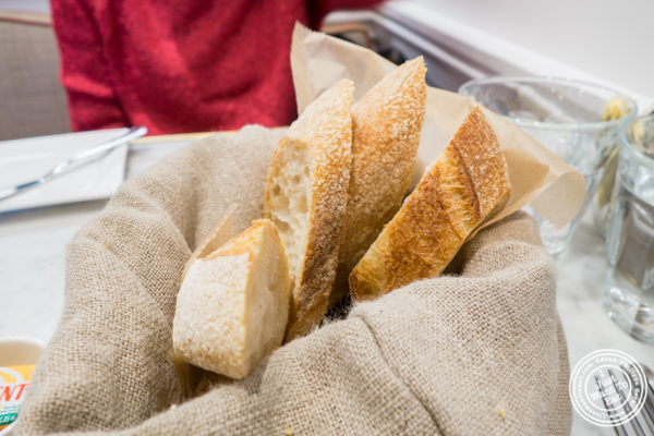 Bread basket at Maison Kayser in the West Village, NYC, New York