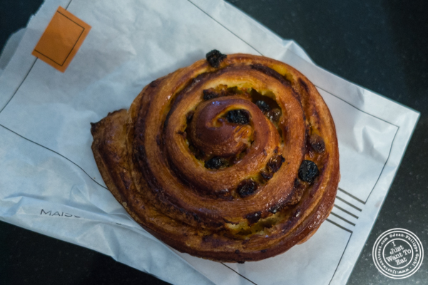 Pain aux raisins at Maison Kayser in the West Village, NYC, New York