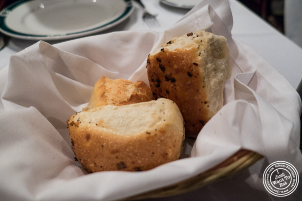 Bread basket at Ben and Jack's Steakhouse in NYC, NY