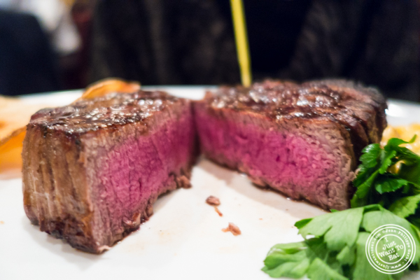 Filet mignon at Ben and Jack's Steakhouse in NYC, NY