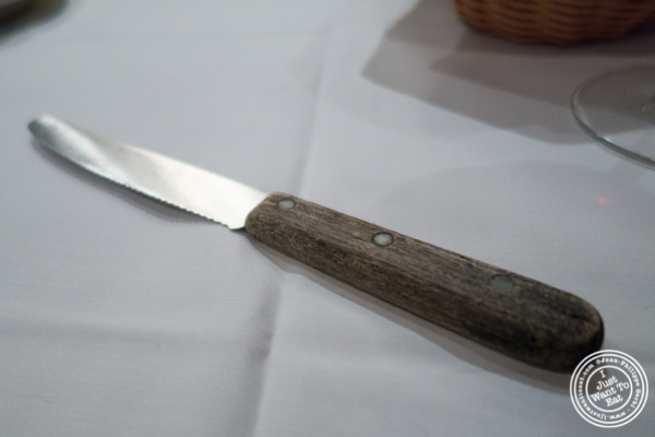 Steak knife at Ben and Jack's Steakhouse in NYC, NY