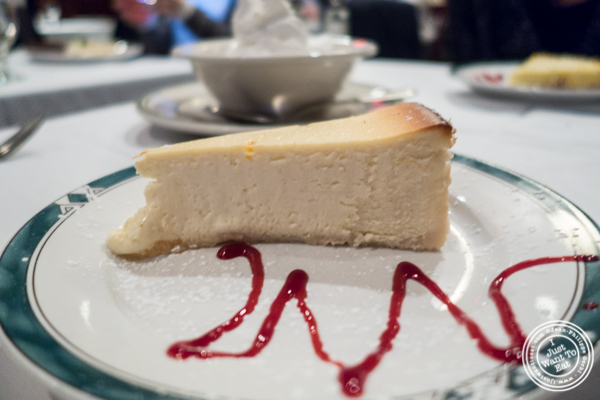 Cheesecake at Ben and Jack's Steakhouse in NYC, NY