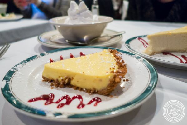 Key lime pie at Ben and Jack's Steakhouse in NYC, NY