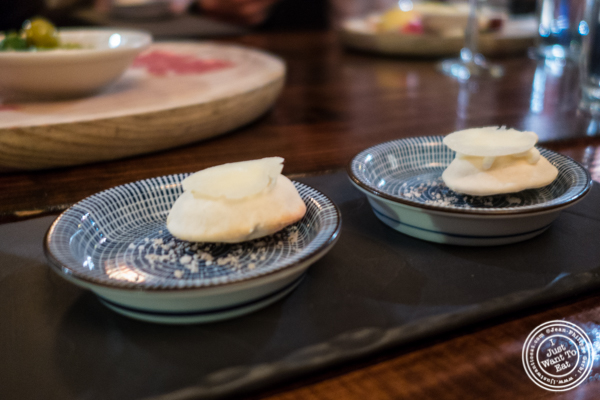 Manchego mini-airbags at Nai Tapas Bar in the East Village