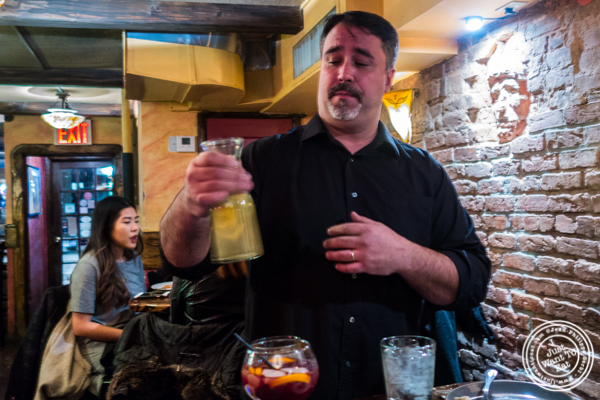 David Martinez with cava at Nai Tapas Bar in the East Village